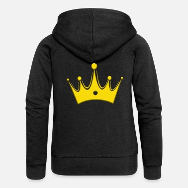 Glamour Crown Crowns King Queen JGA Wedding Bride - Premium zip hoodie dam