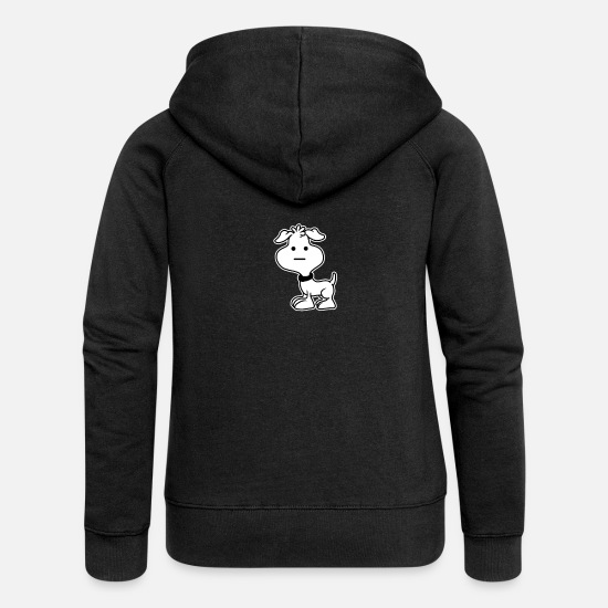 Dog Owner Hoodies & Sweatshirts - Weird Dog Funny Puppy Pet Animal Gift - Women's Premium Zip Hoodie black