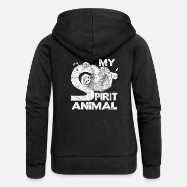 Spirit Cute Sloth My Spirit Animal Lazy Sloths - Frauen Premium Kapuzenjacke