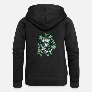 Animal to travel - Women's Premium Zip Hoodie