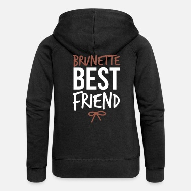 Brunette Best Friends of Three Brunette Best Friend Gift Idea - Women's Premium Hooded Jacket
