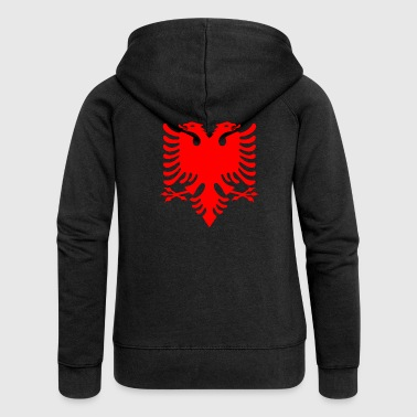 red double-headed eagle Albanian Double Eagle - Women's Premium Hooded Jacket