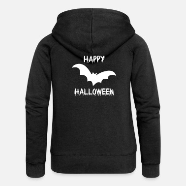 Horror Halloween bat vampire creepy funny - Women's Premium Zip Hoodie