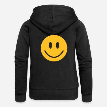 Happy happy, yellow face - Women's Premium Zip Hoodie