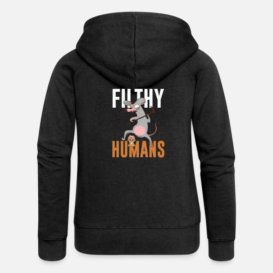 Dislike Hoodies & Sweatshirts - Dirty people - Women's Premium Zip Hoodie black