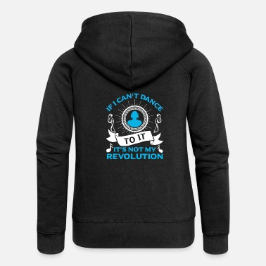 A dubstep motif with the funny saying - Women's Premium Zip Hoodie