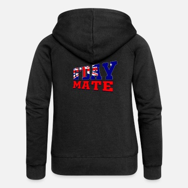 Gday G'Day Mate - Women's Premium Zip Hoodie