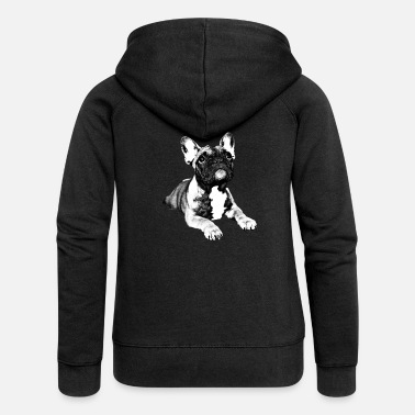 French french bulldog puppy - Women's Premium Hooded Jacket