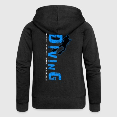 Diving - protects the reefs - Frauen Premium Kapuzenjacke