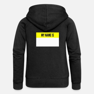 My Name Is Awesome Mi chiamo My name is name tag - Felpa con zip premium donna