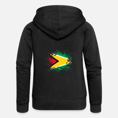 Guyana home country roots roots love Guyana png - Women's Premium Hooded Jacket