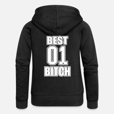 Best Friends Best Bitch BFF Best Friend Friends Gift - Women's Premium Hooded Jacket