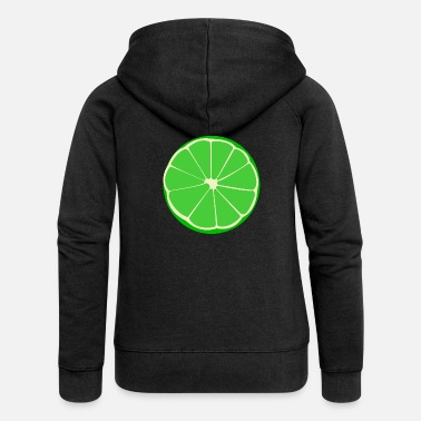 lime lime veggie fruits fruit fruits - Women's Premium Zip Hoodie