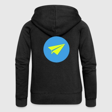 origami paper plane paper airplane46 - Women's Premium Hooded Jacket