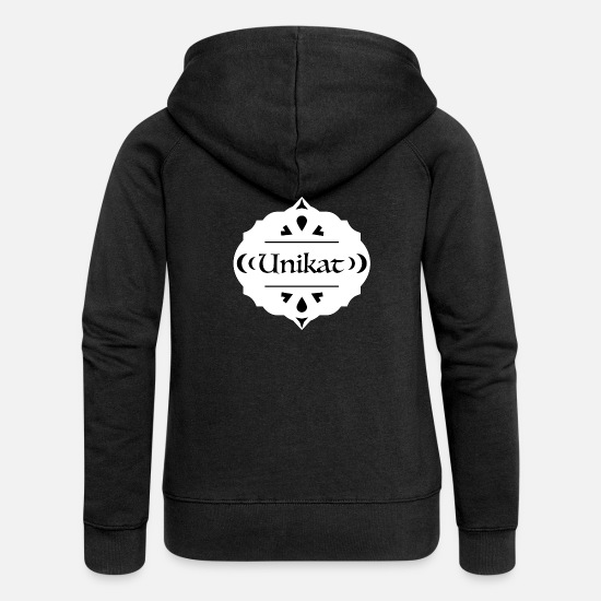 Wife Hoodies & Sweatshirts - Unique l Single piece Button Award - Women's Premium Zip Hoodie black