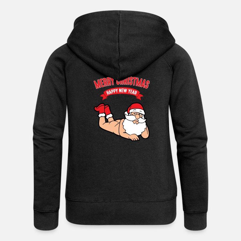 f7c45f9e5d31a Noël Sweat-shirts - Noël Sexy Père Noël Nu Père Noël - Veste à capuche