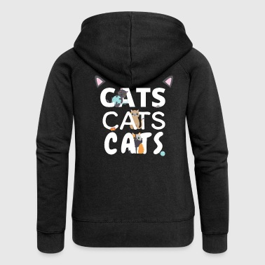 Cats Cats Cats - Women's Premium Hooded Jacket