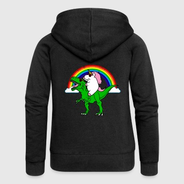 Unicorn and dinosaur - Women's Premium Hooded Jacket