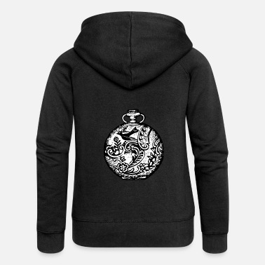 School Pocket Watch Vintage Retro Swallow Tattoo Gift - Women's Premium Zip Hoodie