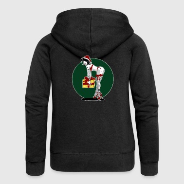 Christmas Pinup - Women's Premium Hooded Jacket