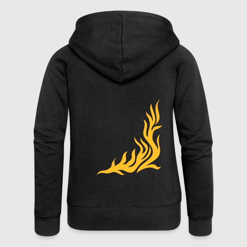 feu, flamme, Flame / T-shirt, fire,vector, can be combined with flame / pants - Veste à capuche Premium Femme