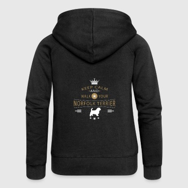 Norfolk Terrier Shirt - Women's Premium Hooded Jacket