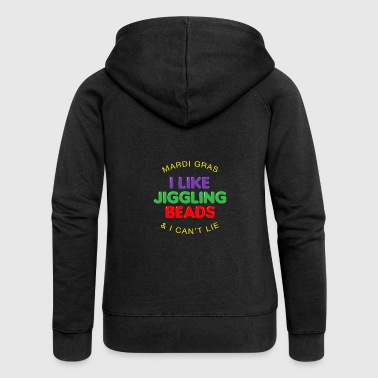 I Like Jiggling Beads Mardi Gras Gift - Women's Premium Hooded Jacket