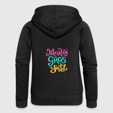 Mardi Gras Y'All Mardi Gras Gift - Women's Premium Hooded Jacket