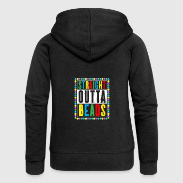 Straight Outta Beads Mardi Gras Gift - Women's Premium Hooded Jacket