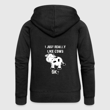 Cow, cows, cow, Cow funny farmer - Women's Premium Hooded Jacket