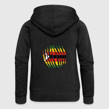 Zimbabwe Claw Claw Homeland Origin Zimbabwe png - Women's Premium Hooded Jacket
