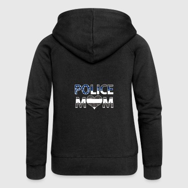 Police Mom Love Law Enforcement Officer - Women's Premium Hooded Jacket