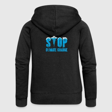 Climate Change Climate Gift CO2 Polar Bear Politics Ozone - Women's Premium Hooded Jacket