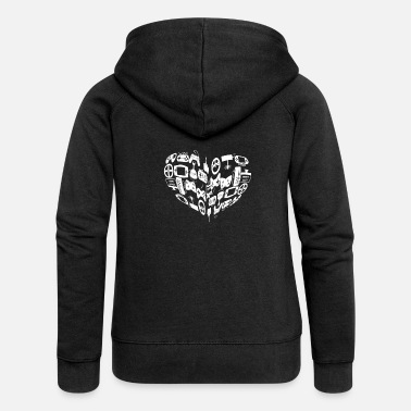 Video Player The heart of a video player! - Gift - Women's Premium Zip Hoodie