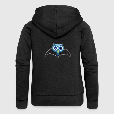 Owl head bat wings flying - Women's Premium Hooded Jacket