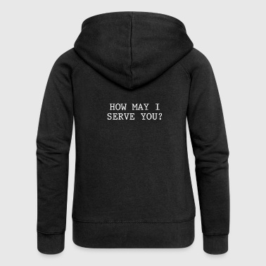Submissive How may I serve you Submissive slave submissive BDSM - Women's Premium Hooded Jacket