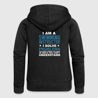 I am a swimming instructor .. - gift - Women's Premium Hooded Jacket