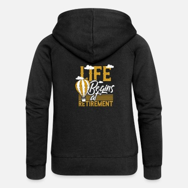 Retirement Pension pensioner retirement free time free gift - Women's Premium Zip Hoodie