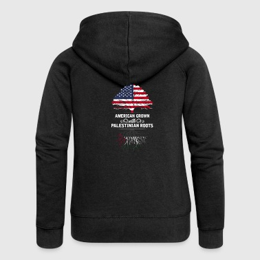 Palestinian American grown with Palestinian roots - Women's Premium Hooded Jacket