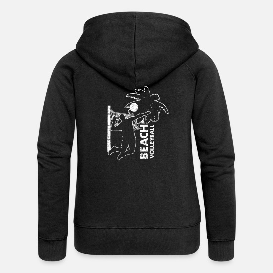 Gift Idea Hoodies & Sweatshirts - Beach volleyball volleyball athlete gift - Women's Premium Zip Hoodie black