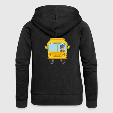 Bus yellow vibrant driver gift idea - Women's Premium Hooded Jacket