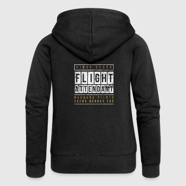 flight attendant - Women's Premium Hooded Jacket