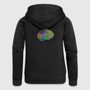The regions of the brain - Women's Premium Hooded Jacket
