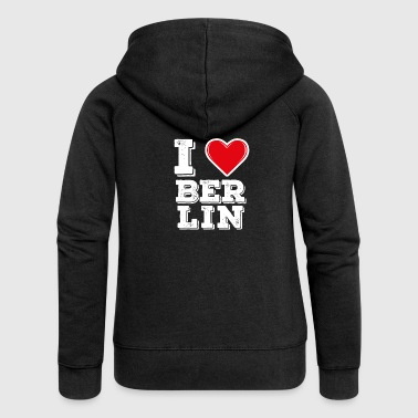I Love Berlin I love Berlin - I love Berlin - Women's Premium Hooded Jacket