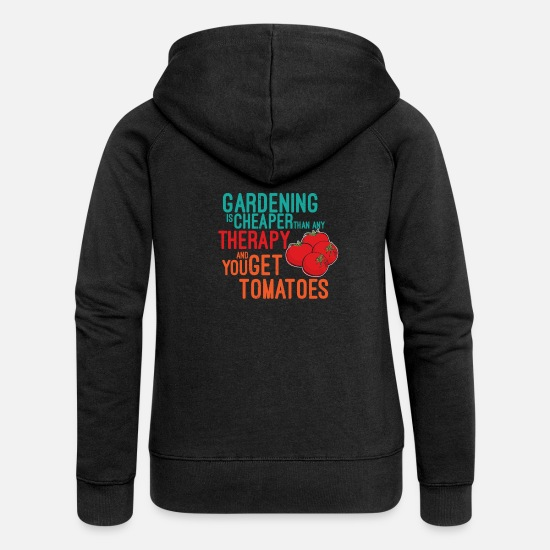 Birthday Hoodies & Sweatshirts - amateur gardeners - Women's Premium Zip Hoodie black