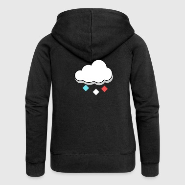 Cloud Colorful Raindrop Gift - Women's Premium Hooded Jacket