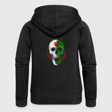 Wales skull Halloween dragon Celts - Women's Premium Hooded Jacket