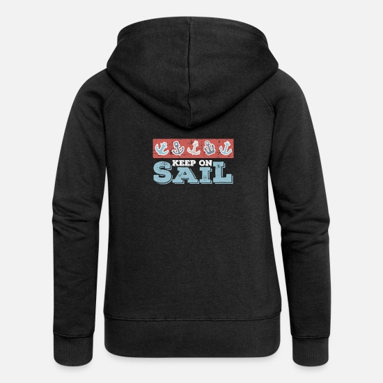 Faucet Hoodies & Sweatshirts - Water lake anchor - Women's Premium Zip Hoodie black
