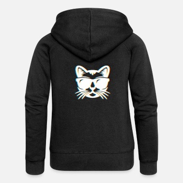 Psy-trance Psychedelic Cat Gift Psy Trance Music Trippy - Women's Premium Hooded Jacket
