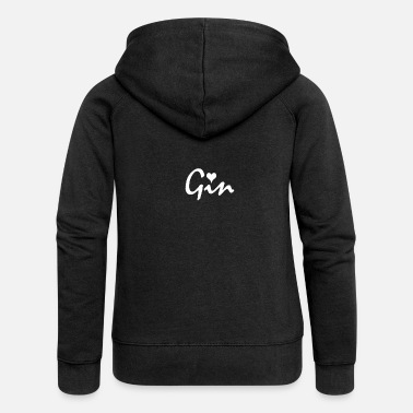 Gin Gin - Gin with a heart for gin lovers - Women's Premium Zip Hoodie